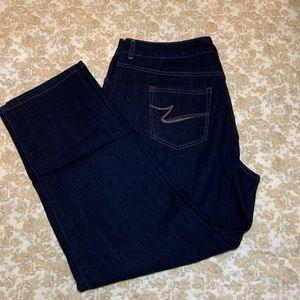 JMS Women's Dark Denim Straight Leg Jeans